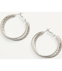 maurices womens silver twisted hoop earrings gray