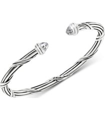 peter thomas roth white topaz cuff bracelet (2-3/4 ct. t.w.) in sterling silver