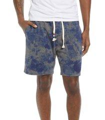 men's sol angeles cobalt marble fleece shorts, size medium - grey