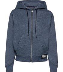 premium core hdd zip thru sw wmn l- hoodie trui blauw g-star raw
