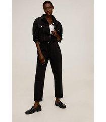 jeans met elastische tailleband en koord
