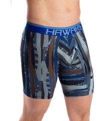 bóxer largo hawai azul rey