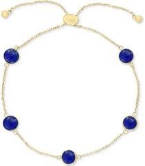 effy onyx (6mm) station bolo bracelet in 14k gold (also in lapis lazuli & jade)
