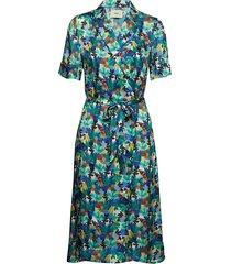 carmelo jurk knielengte blauw stig p