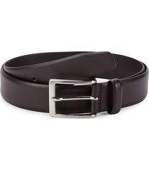 boss hugo boss men's leather belt - dark brown - size 32