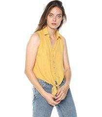 blusa amarillo -blanco active