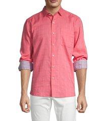 tommy bahama men's costa capri check-jacquard shirt - tutti fruti - size m