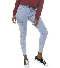 jeans cargo básico azul claro  corona