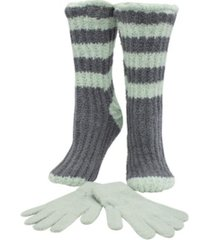 minxny double layer lavender scented wine or coffee time slipper socks & glove set