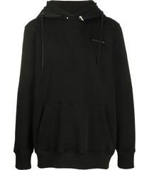 black mackintosh metal logo hoodie jumper
