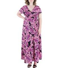 plus size cap sleeve empire waist maxi dress