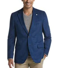 nautica bright blue microsuede modern fit sport coat