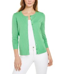 charter club long-sleeve button-front cardigan, created for macy's