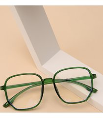 gafas de marco cuadrado de acrílico transparente