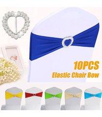 presidente 10pcs la silla del estiramiento elástico spandex banda banda del corazón hebilla de decoración de la boda - lago azul
