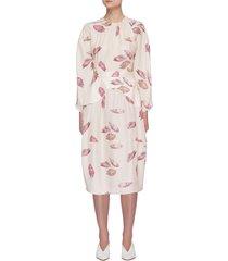 'amara' shell print midi dress