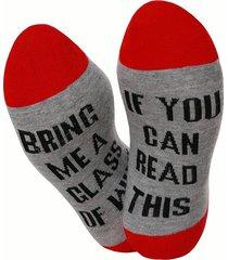 unisex calze amanti di stile casual sportivo in cotone con stampato di lettere