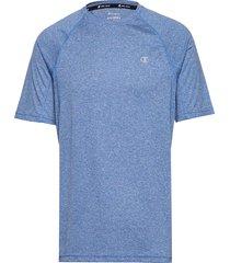 crewneck t'shirt t-shirts short-sleeved blå champion