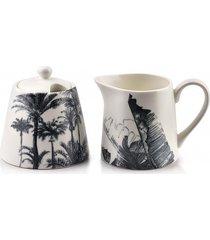 cukiernica i mlecznik porcelanowy tropical