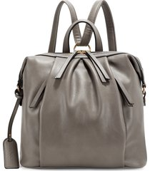 sole society fayth faux leather backpack - brown