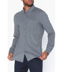 lacoste chemise casual manches skjortor grå
