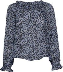 2nd angelina blossom blouse lange mouwen blauw 2ndday