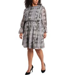 1.state trendy plus size printed wrap dress