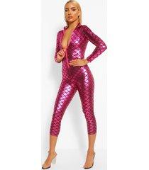 sexy zeemeermin jumpsuit, pink