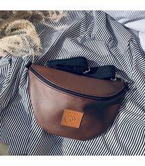 nerka / torebka mili belt bag l - brązowa