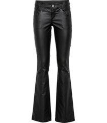 pantaloni a zampa in similpelle (nero) - rainbow