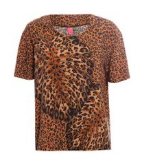 t-shirt costela de onça - animal print