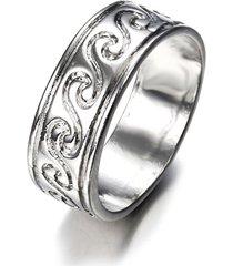 anello da dito di vinatge argento antico semplice modello inciso onda anelli gioielli etnici per donne uomini