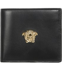 versace leather bifold wallet