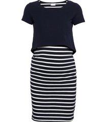 mllea org june s/s y/d abk dress knälång klänning blå mamalicious