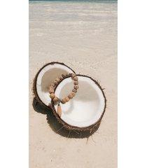 bransoletka, biała lawa, drewno, surfing