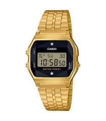relógio digital casio unissex a159wged1df dourado