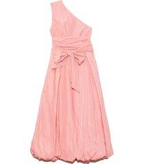 taffeta one shoulder dress in azalea pink