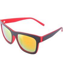 uv400 occhiali da sole con montatura in resina con cornice rossa verde