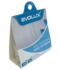 cola em pó para papel de parede adesif 50gramas branca