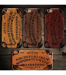 natural wooden cherry wood ouija board phone case for iphone6plus  samsung cover