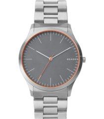 skagen men's jorn stainless steel link bracelet watch 41mm