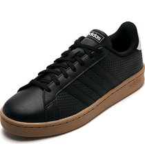 tenis lifestyle negro-blanco adidas performance grand courd