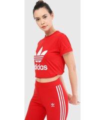 camiseta rojo-blanco adidas originals adicolor classics