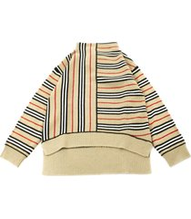 burberry sweater in cashmere and wool blend