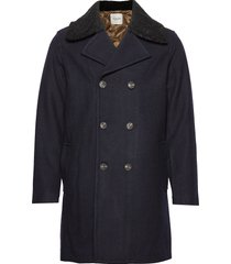 slhlong peacoat w wollen jas lange jas blauw selected homme