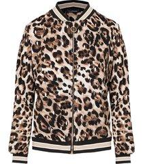 leopard bomber jacket dames