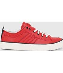 zapatilla s astico low lace sneakers rojo diesel