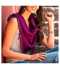 cotton scarf, 'mulberry stripes' (mexico)