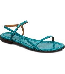 sandals 4132 shoes summer shoes flat sandals blå billi bi