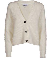 ganni soft wool knit shirt
